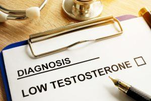 Prontuário com diagnóstico de baixo nível de testosterona