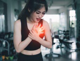 Mulher com doença no coração